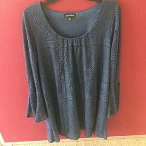 Sequin Hearts Blue Midi Dress XL